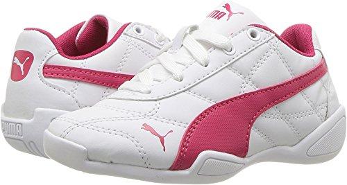PUMA Kids' Tune Cat 3 Sneaker, White-Love Potion, 12 M US Little Kid