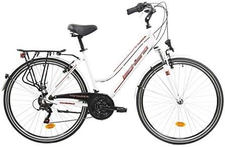 F.lli Schiano Voyager Bicicleta Trekking, Womens, Blanco-Rojo, 28 ...