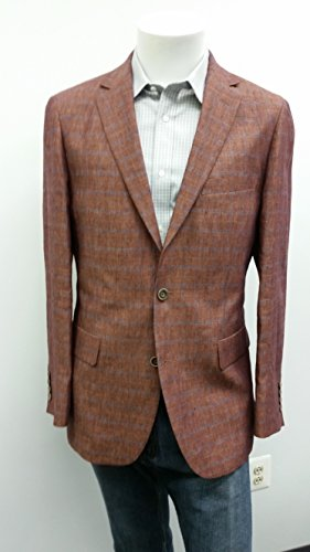Brown Windowpane Sport Coat - Jean-Paul Germain Big and Tall Windowpane Linen Sport Coat