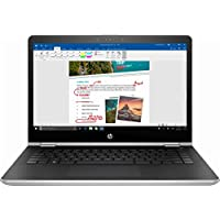 HP - 2-in-1 14 Touch-Screen Laptop - Intel Core i3-7100U - 6GB Memory - 500GB Hard Drive - HP Finish Natural Silver