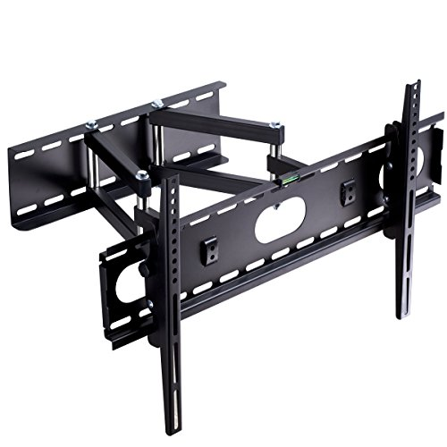 "Suptek Full Motion Articulating TV Wall Mount Bracket for most 32-60"" LED, LCD, and Plasma Flat Screen TVs / VESA up to 600x400mm / Super-strength Load Capacity / Free Bubble Level MA5073"