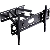 Suptek Full Motion Articulating TV Wall Mount Bracket for most 32-60 inch LED, LCD, and Plasma Flat Screen TVs / VESA up to 600 x 400/ Super-strength Load Capacity- Free Bubble Level MA5073