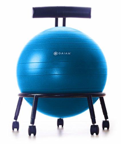Gaiam Adjustable Custom-Fit Balance Ball Chair, Blue