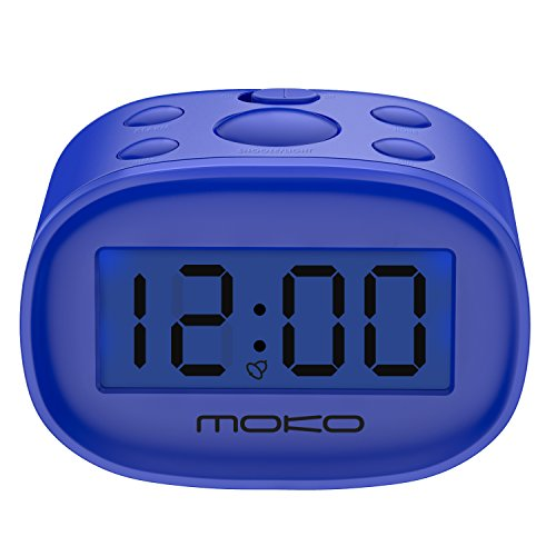 digital alarm clock moko high accuracy mini lcd display. Black Bedroom Furniture Sets. Home Design Ideas