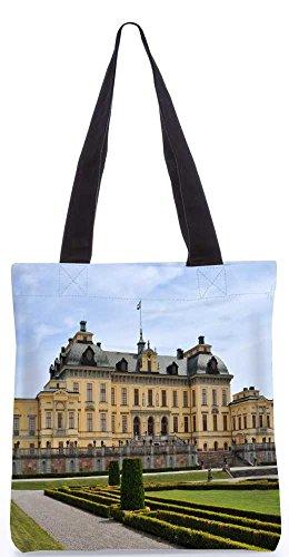"""Snoogg Gelbes Haus Tragetasche 13,5 X 15 In """"Shopping-Dienstprogramm Tragetasche Aus Polyester Canvas"""