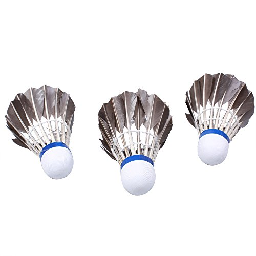 Sport Black Plume Badminton De Cork 12pcs Goose Plein En Air Shuttlecocks Accessoires 8w5O45aq7