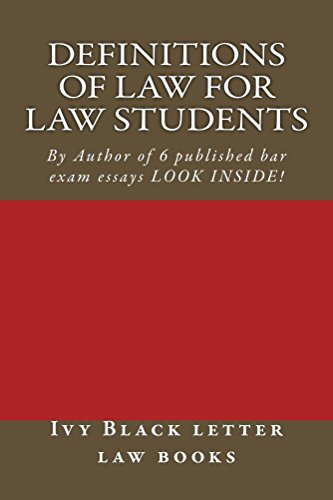 Amazon com: Definitions of Law For Law Students: (e-book), The