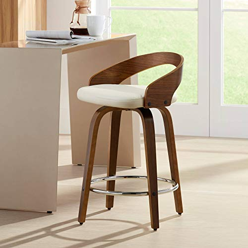 (WOYBR CS-JY-GRT WL+CR Wood, Pu Leather Grotto Counter Stool)