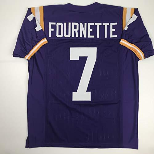 - Unsigned Leonard Fournette LSU Purple Custom Stitched College Football Jersey Size Men's XL New No Brands/Logos