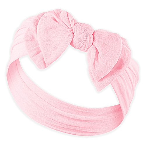 DOUBLE BOW FAVORITE BABY HEADBANDS - Baby Headband For Newborn Headbands and Baby Girls Headbands,Light Pink,Newborn and Up]()