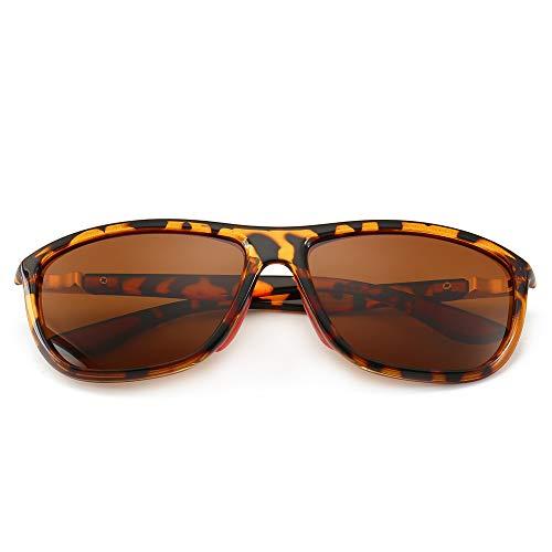 SUNGAIT Unisex Polarized Sunglasses Fashion Sun Glasses For Men Women UV400 (Amber Frame/Brown Lens)