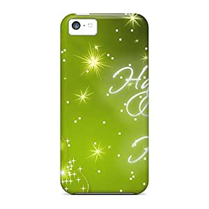 Iphone 5c Case Slim [ultra Fit] Happy Holidays Green Protective Case Cover