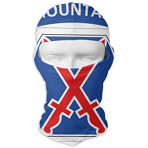 Glory Full Face Helmet - Lozeow 10th Mountain Division Climb to Glory Windproof Dust Protection Balaclava Full Face Mask Hood Headcover