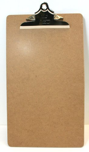 A&W Products Masonite Clipboard, Brown, Legal Size 9 x 15.5 Inch with Standard Clip (04006.01140) by A&W Products