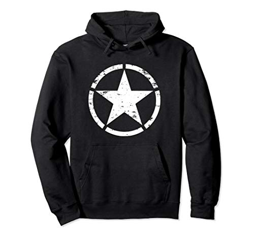 WW2 D-Day Invasion Circle Star Allied Military Hoodie