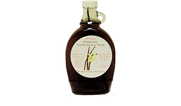 amazon com wildwood s vanilla infused hickory syrup 12oz