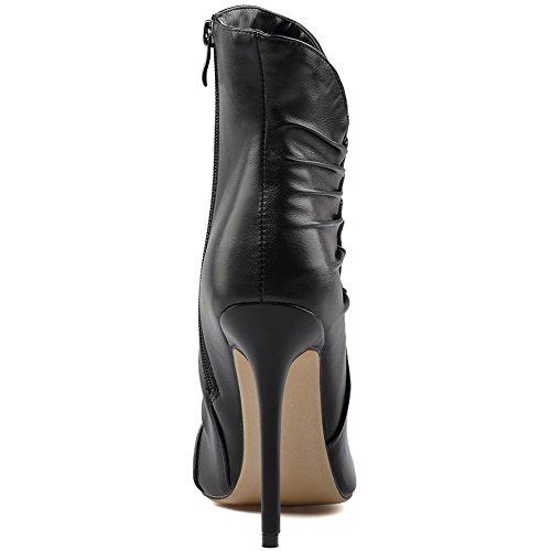 Super Elegante Moda Sexy Di Appuntite Alto 41 071202 KJJDE Black Pole Dance Donna Tacco TLJ Sexy HwTBBq