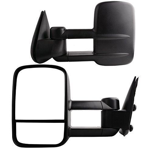 YITAMOTOR for 99-07 Chevy Silverado GMC Sierra Tahoe Pair Set Manual Telescoping Towing Side Mirrors (2001 Suburban Towing Mirrors compare prices)