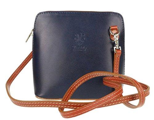 Big Handbag Shop, Borsa a tracolla donna One Navy - Tan