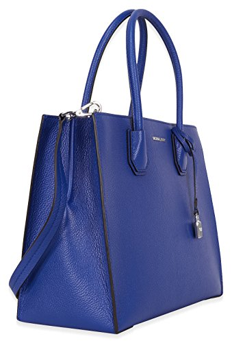 Michael Kors Mercer Large Bonded Leather Tote - Electric Blue by Michael Kors (Image #1)