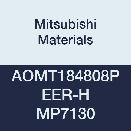 Mitsubishi Materials AOMT184808PEER-H MP7130 Coated Carbide Milling Insert Pack of 10 0.189 Thick Class M Round Honing Parallelogram 85/° 0.031 Corner Radius