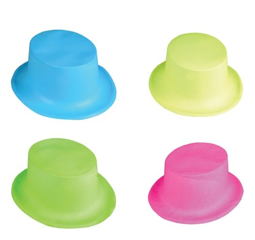 NEON PLASTIC TOP HAT, Case of 432 by DollarItemDirect