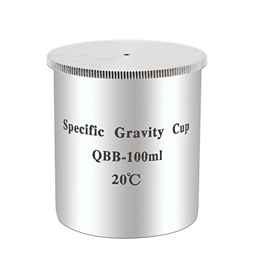 NEWTRY QBB-100ml Stainless Steel Paint Density Specific Gravity Cup for Various Kinds of Coatings and Auxiliary Materials, Oil and Other Liquids QBB 100ml