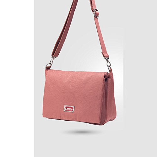 Forme el paquete plegable multi-funcional, bolso de la momia, bolso impermeable de la madre del mensajero del hombro ( Color : Gris ) Rojo