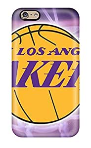 Tpu Case Cover For Iphone 6 Strong Protect Case - Basketball Nba Lakers Design by mcsharks