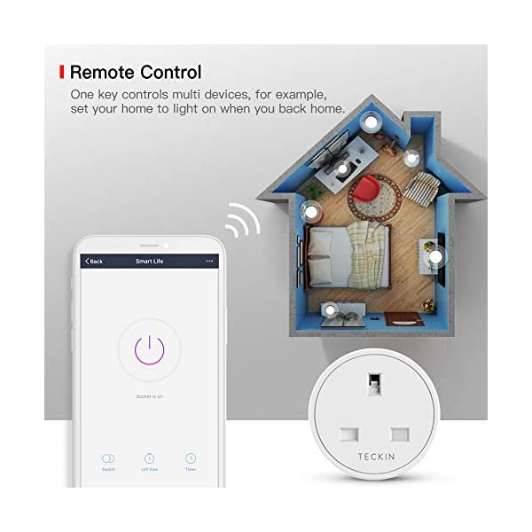 Smart Plug Wifi Outlet Teckin Mini Plug Works With Amazon Alexaecho