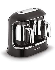 Korkmaz A861-01 Kahvekolik Twin Siyah/Krom Kahve Makinesi