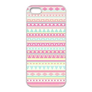colour & pattern Case For iPhone 5,5S White Nuktoe644714