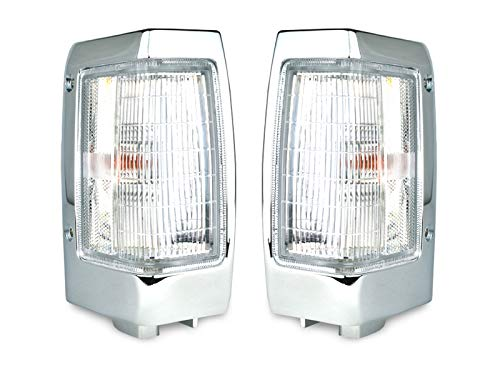 REVi MotorWerks DEPO 1990-1997 Nissan Hardbody Pickup Truck Clear Corner Light Set