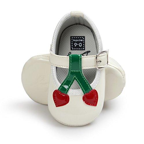 Auxma Zapatos de bebé, Bebé niña Cómoda AntiSlip Princesa Toddler Zapatos Blanco
