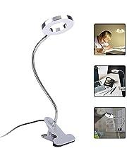 Lámpara LED con Soporte de Clip Luces de Maquillaje USB Luz de Escritorio de Soporte Ajustable para Uso en el Salón de Hogar