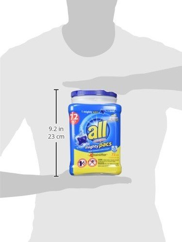 all Mighty Pacs Laundry Detergent, Stainlifter, 72 Count, 2 Tubs, 144 Total Loads by All (Image #7)