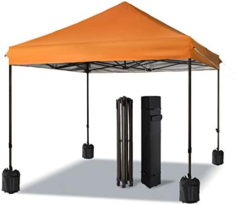 COMOOO Outdoor Tent Canopy Pop Up Canopies Tent 10×10 Beach Portable Camping Instant Tent