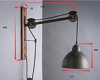 Plafoniera Muro : Lina muro industriale vintage applique lampada plafoniera per casa