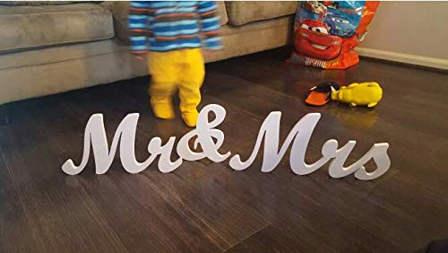 Large Size Mr and Mrs Sign - Tinksky Wedding Decoration Wedding Present - MR MRS Wooden Letters ()