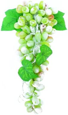 Calcifer realista suave Artificial uvas frutas para jardín boda fiesta decoración para el hogar, verde claro, 1 Bunch(110pcs/Bunch): Amazon.es: Hogar
