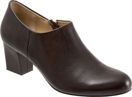Trotters Women's Penny Bootie,Dark Brown Full Grain Soft Nappa Leather,US 7 N