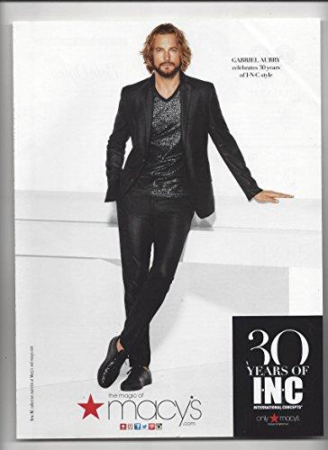 --PRINT AD-- With Gabriel Aubry For Macys 30 Years of INC --PRINT - 30 Macys