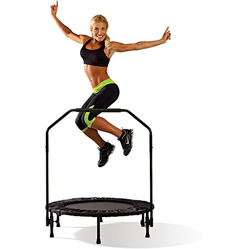 [Marcy] 40-Inch Trampoline Cardio Trainer, with Handrail, Black by [Marcy]