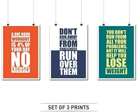 Fitness A3 A2 A1 A0 Framed Work Motivational Quote Home Art Poster Print