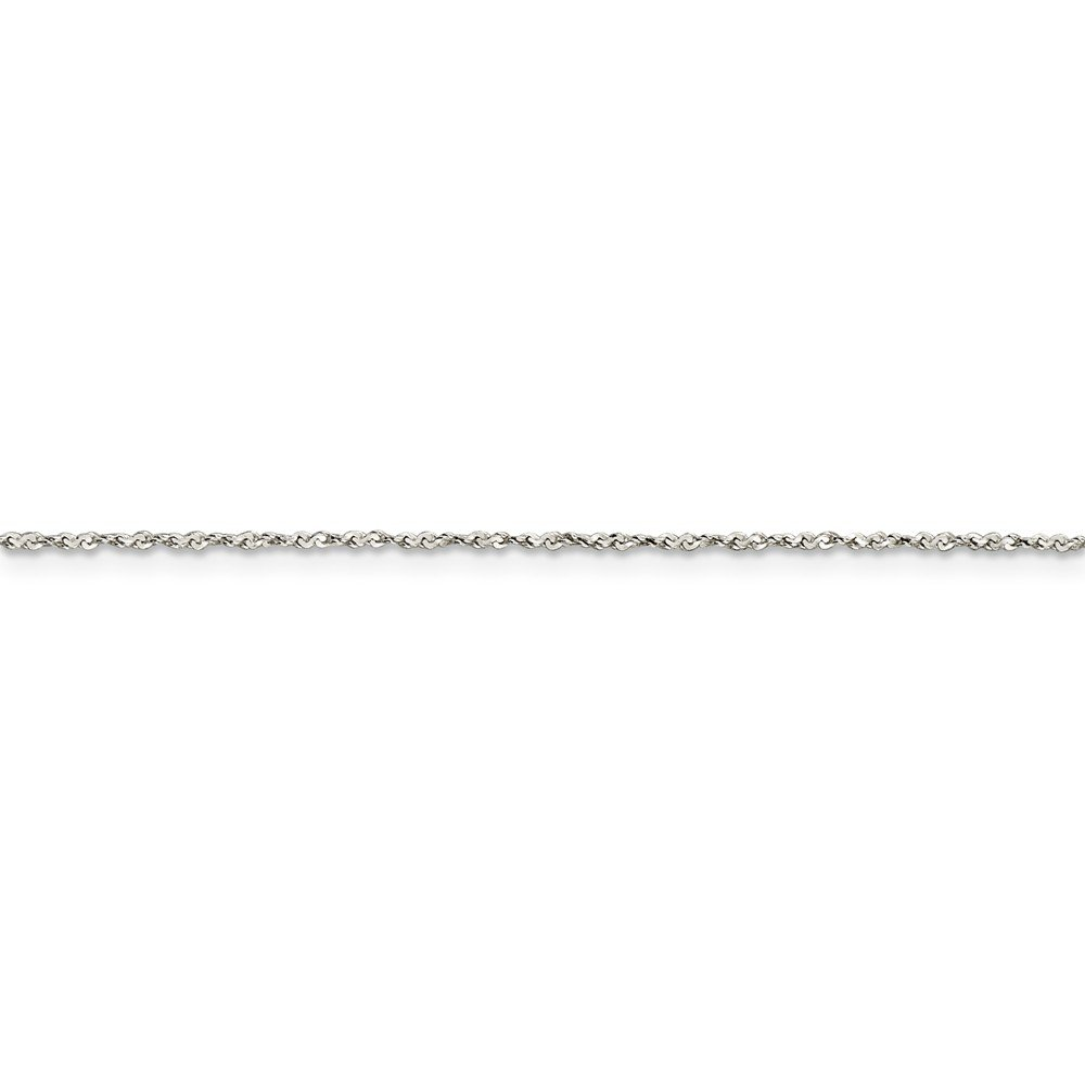 925 Sterling Silver 1mm Twisted Serpentine Chain Necklace 24 Length