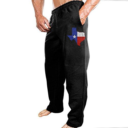 Distressed Texas Flag Map Men's Sport Preshrunk Cotton Sweatpants (John Daly Golf Pants)