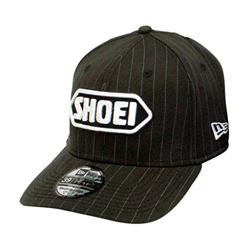 Shoei XF-10-0411-5805-05 New Era Pinstripe Hat, Gender: Mens/Unisex, Primary Color: Black, Size: Md-Lg, Distinct Name: - Era Hat Pinstripe