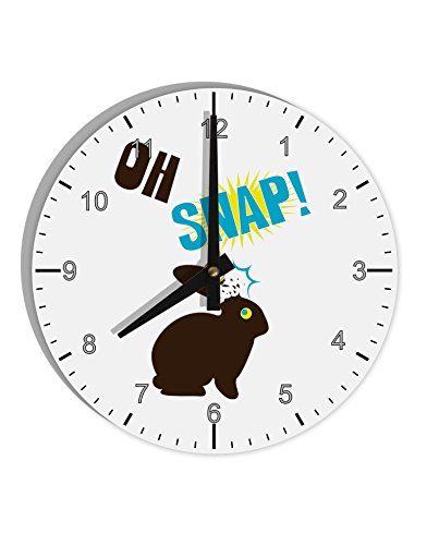 "TooLoud Oh Snap Chocolate Easter Bunny 8"" Round Wall Clock w"