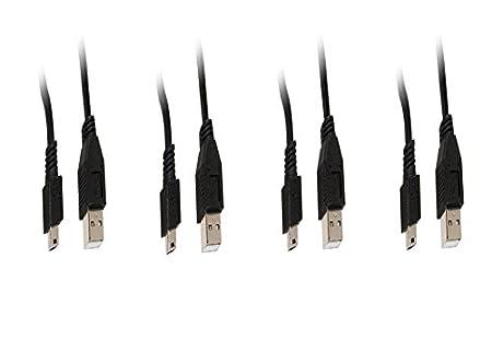 CNE465536 4 Pack USB 2.0 A Male To Mini-B Male 1 Feet Black