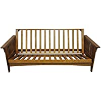 Gold Bond AOSHC + BOFC Boston Cherry Oak Futon Frame, Full, Brown